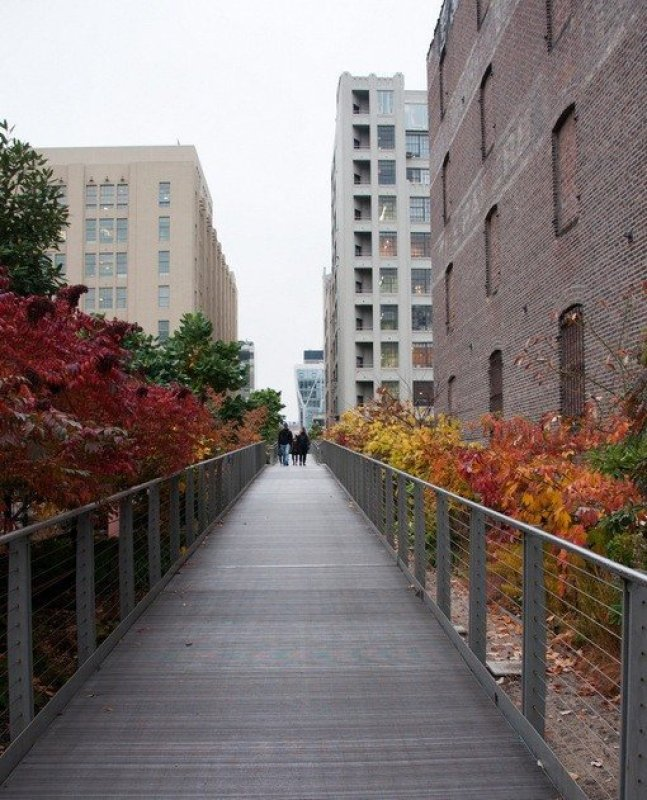 A narrow point on The High Line