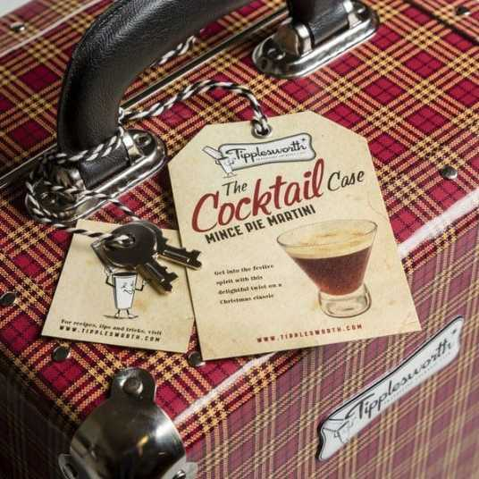 Tipplesworth Mince Pie Martini Suitcase