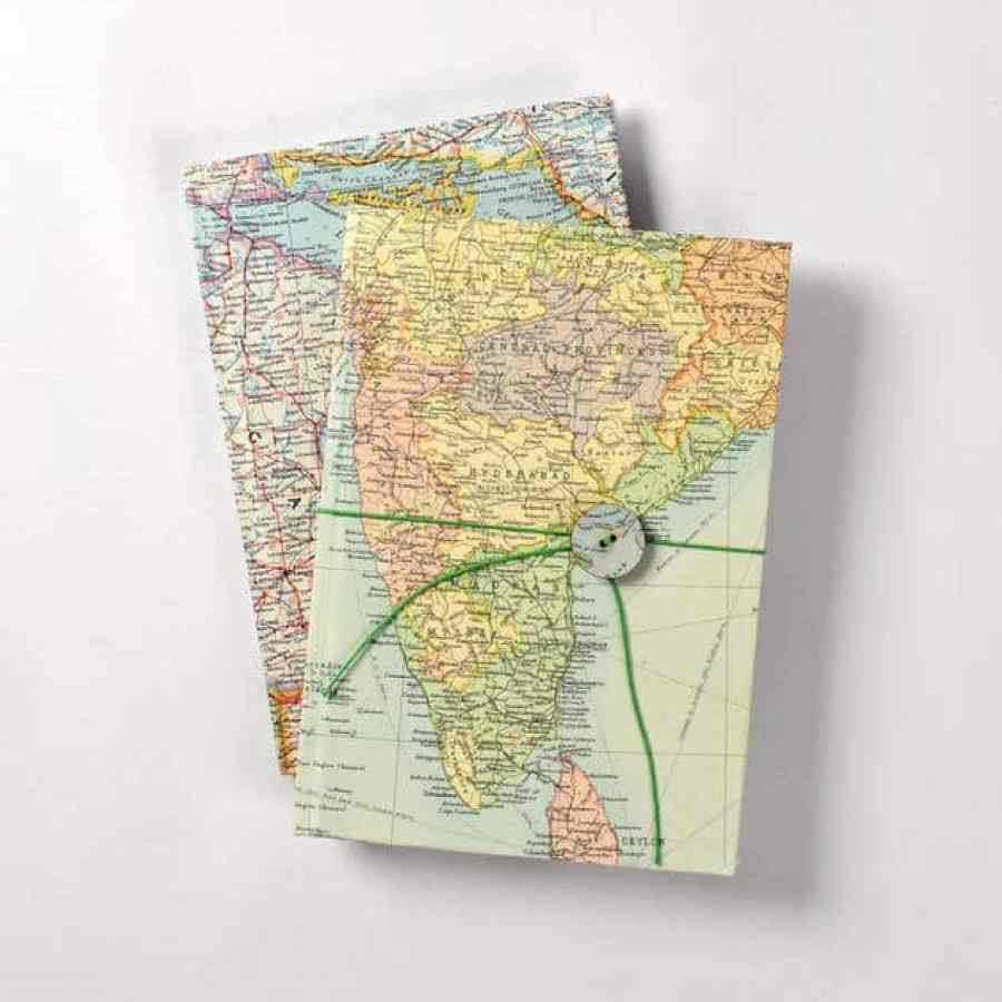 Atlas Notebook from Etsy