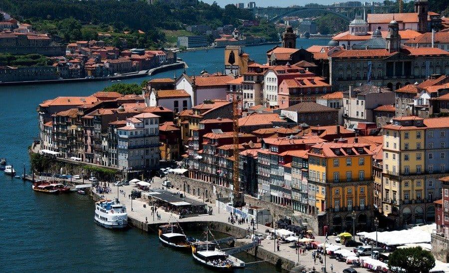 View of Porto from Dom Luis Bridge