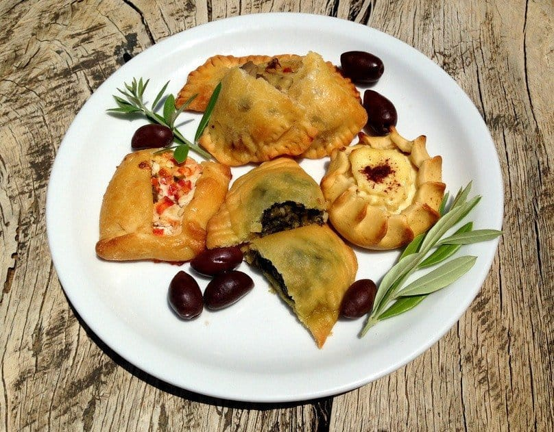 Crete Food - pies, pastries and olives