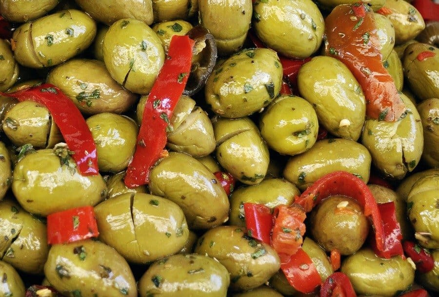 Green olives in Crete