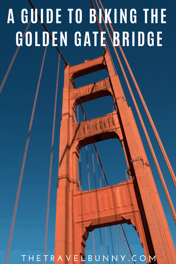 A guide to biking the Golden Gate Bridge. Find out what to expect on your Golden Gate bike ride with facts & history about the bridge #sanfrancisco #usa #goldengatebridge