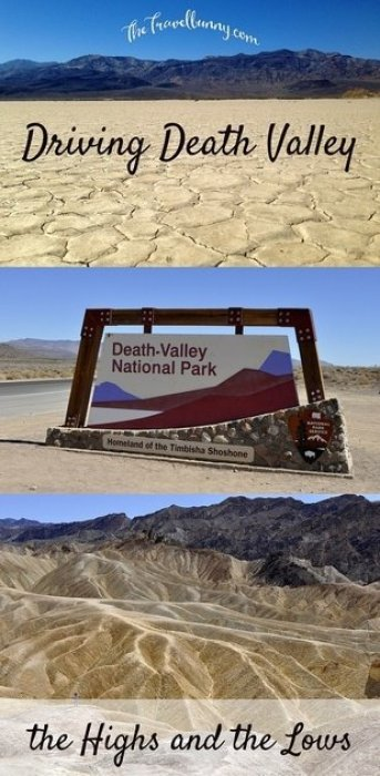 Highlights of a drive through Death Valley