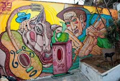 Lima Street Art in The Barranco