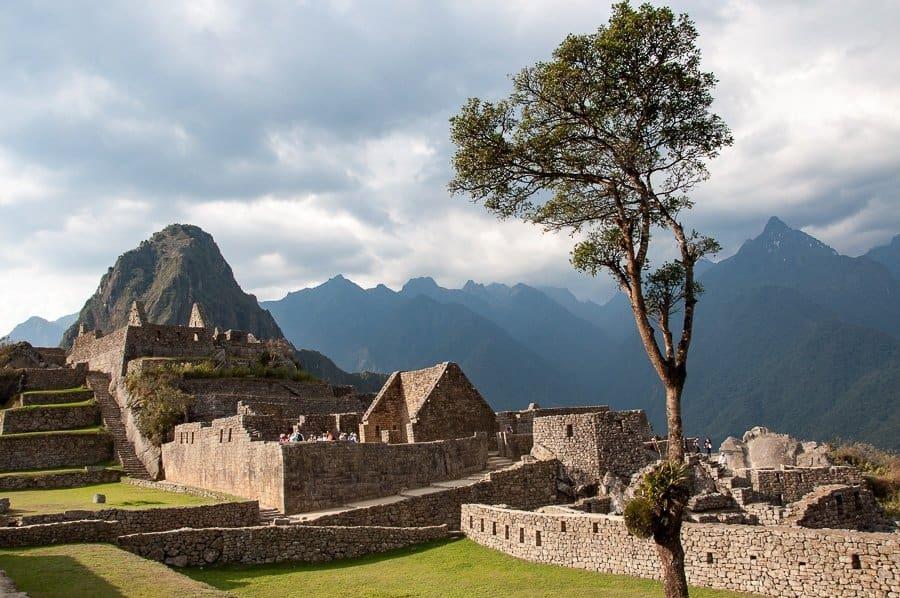 stone ruins Machu Picchu