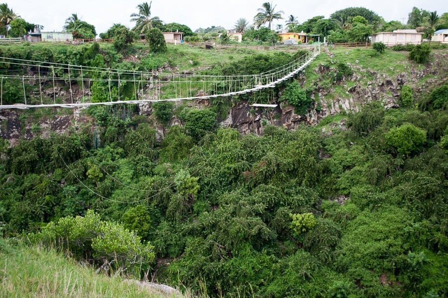 Rope Bridge, Rodrigues Island, Mauritius