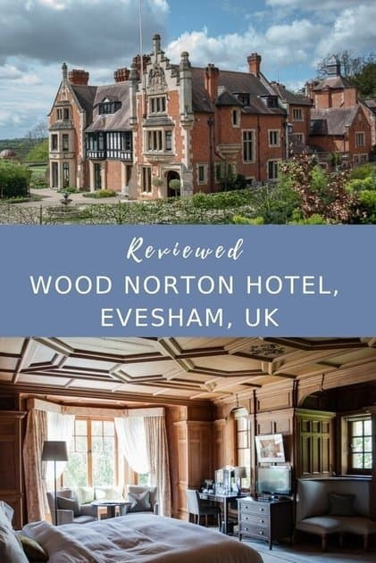 Hotel review - Country house hotel luxury in the Cotswolds. A relaxing break at the Wood Norton Hotel near the historic town of Evesham #Cotswolds #England #luxury #hotel