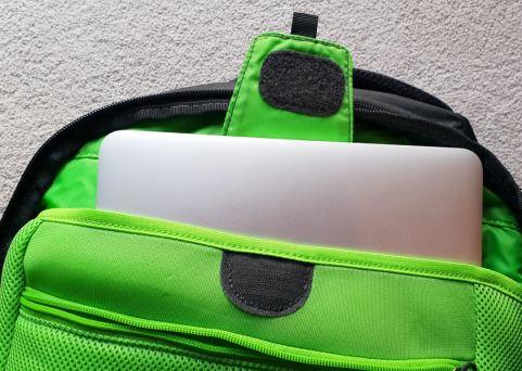 Backpack laptop pocket