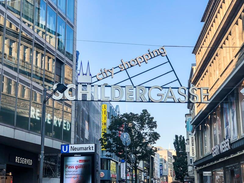 Schildergasse Shopping Street Cologne