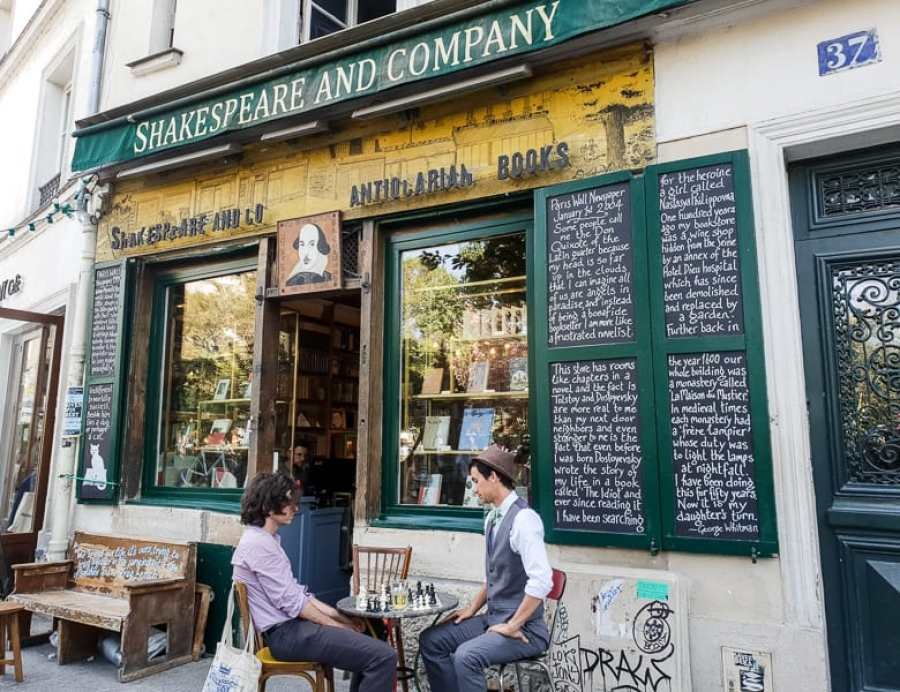 Shakespeare & Co Paris storefront