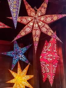 Christmas paper star lights