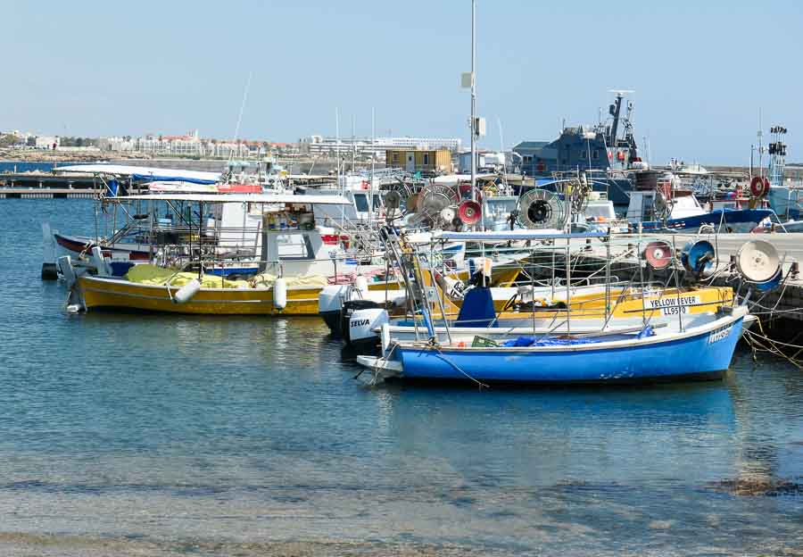 Boats in Paphos Harbour, Cyprus