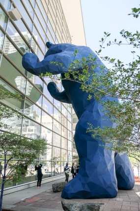 Big Blue Bear Sculpture, Denver