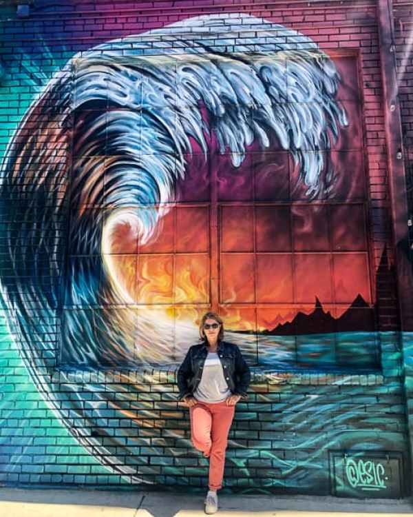 Still Wave by ESIC Denver colourful wave mural