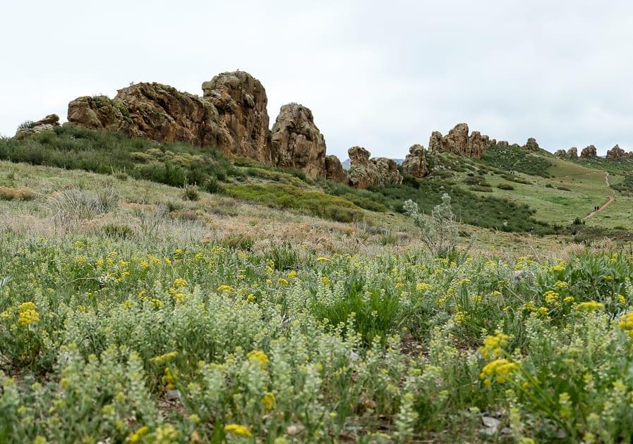 Devils Backbone rock outcrop Loveland