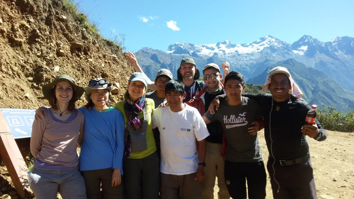 Our family in Peru with who we trekked towards Choquequirao. This experience will bond us forever! Ayahuasca Peru