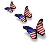 13042449-tres-mariposas-bandera-americana-aislados-en-blanco