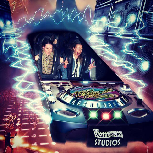 Rock 'n' Roller Coaster ride photo from Disneyland Paris.