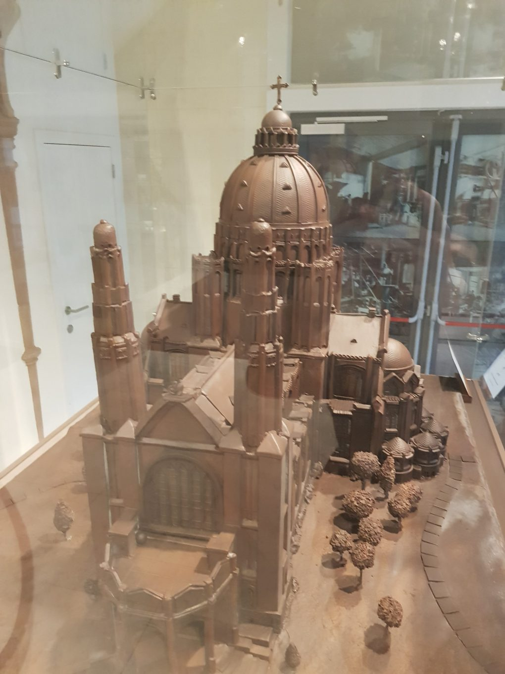A replica of the Basilique of the Sacred Heart made out of chocolate