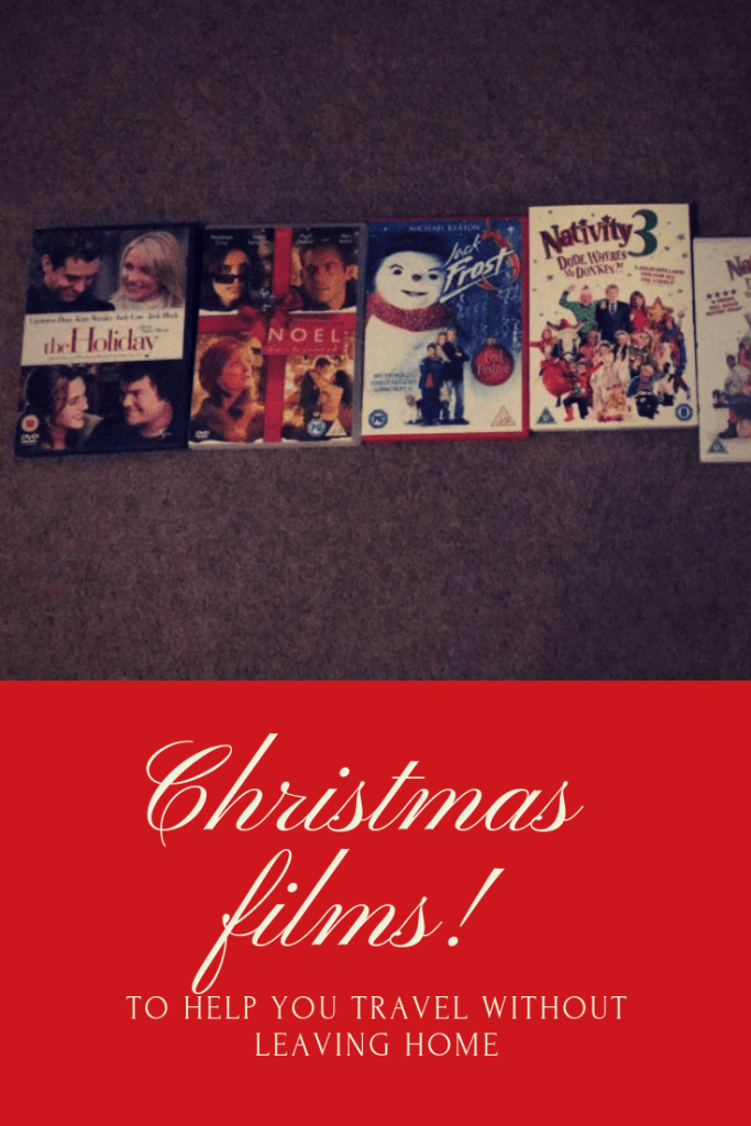Traveling via Christmas movies - Festive films to inspire your wanderlust. Travel the world without ever leaving home. #christmas #christmasfilms #christmastravels