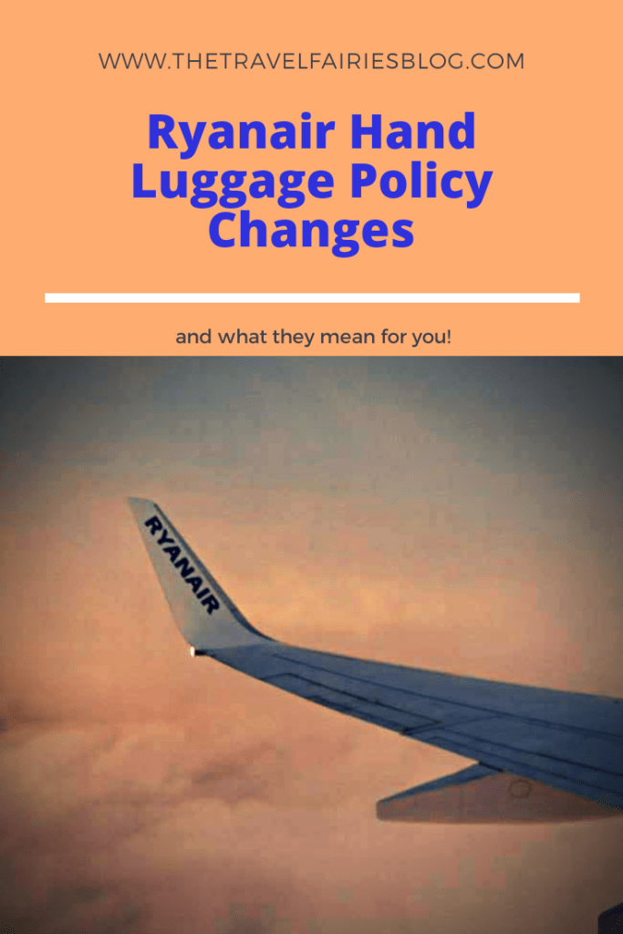 Changes to the Ryanair Hand Luggage policy and what they mean to you. Hand Luggage restrictions. Hand Luggage sizes. Hand luggage allowance. #budgettravel #europetravel #handluggage