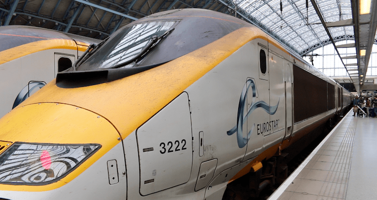 Catching the Eurostar to Paris