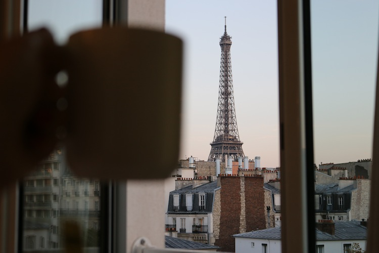 Eiffel Tower with tea