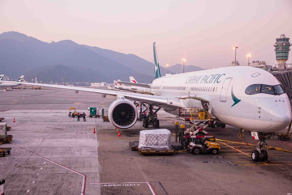 Cathay Pacifc Airbus A350-900 B-LRA The Travel Happiness-3
