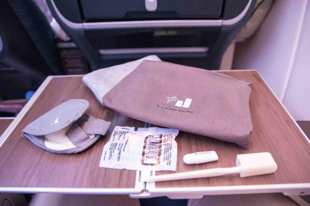 Cathay Pacifc Premium Economy Class Amenity Kit The Travel Happiness
