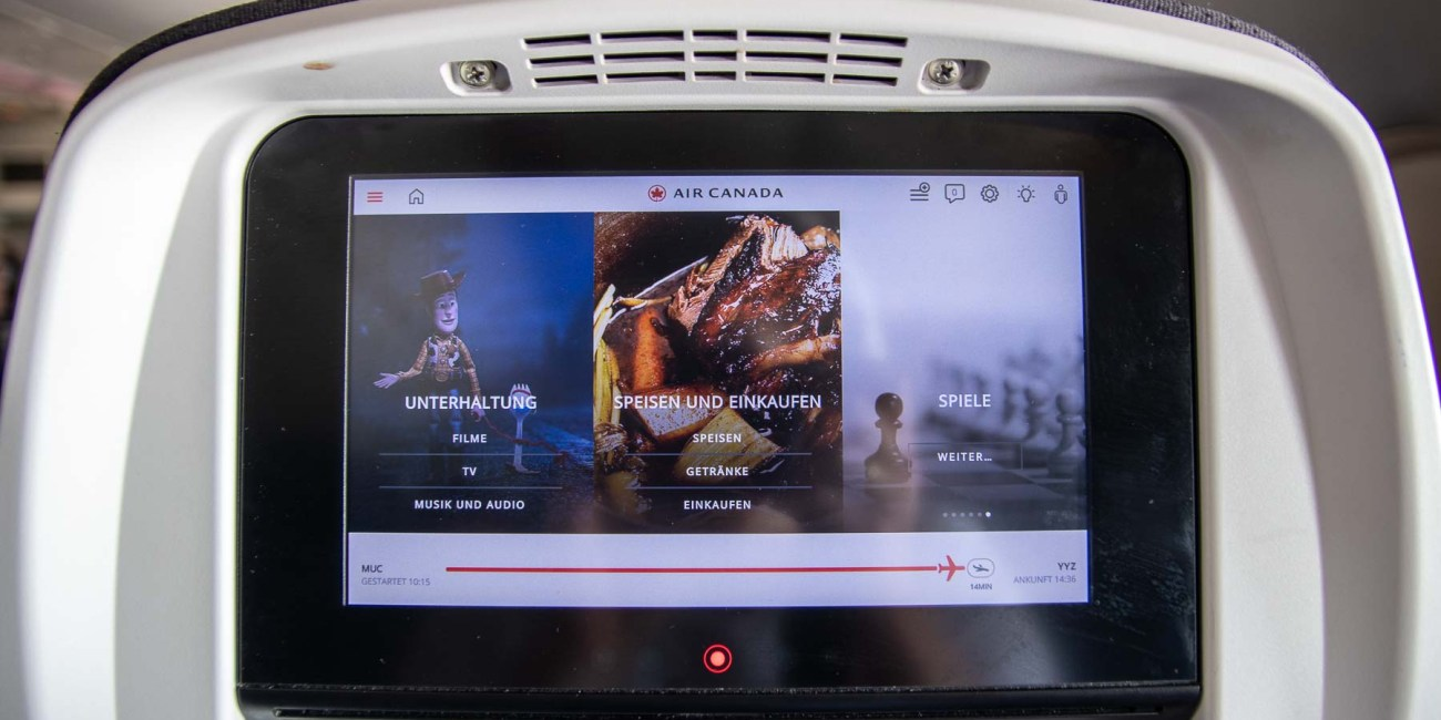 Air Canada Boeing 777 Economy Class Inflight Entertainment