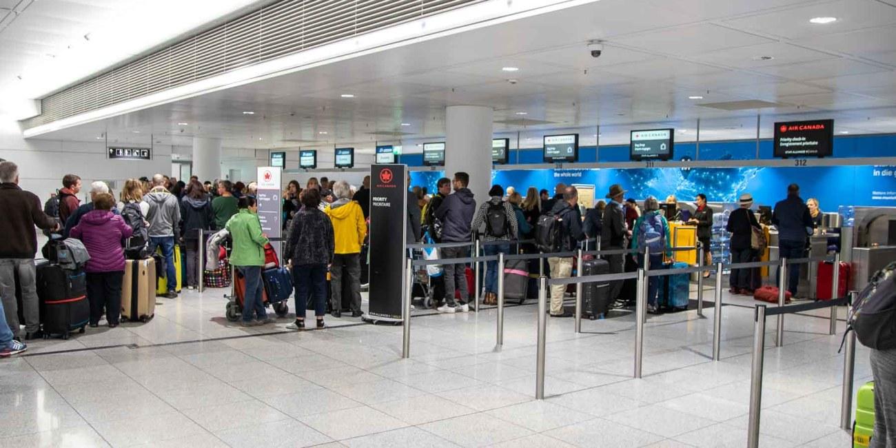 Air Canada Check-in FLughafen München-2