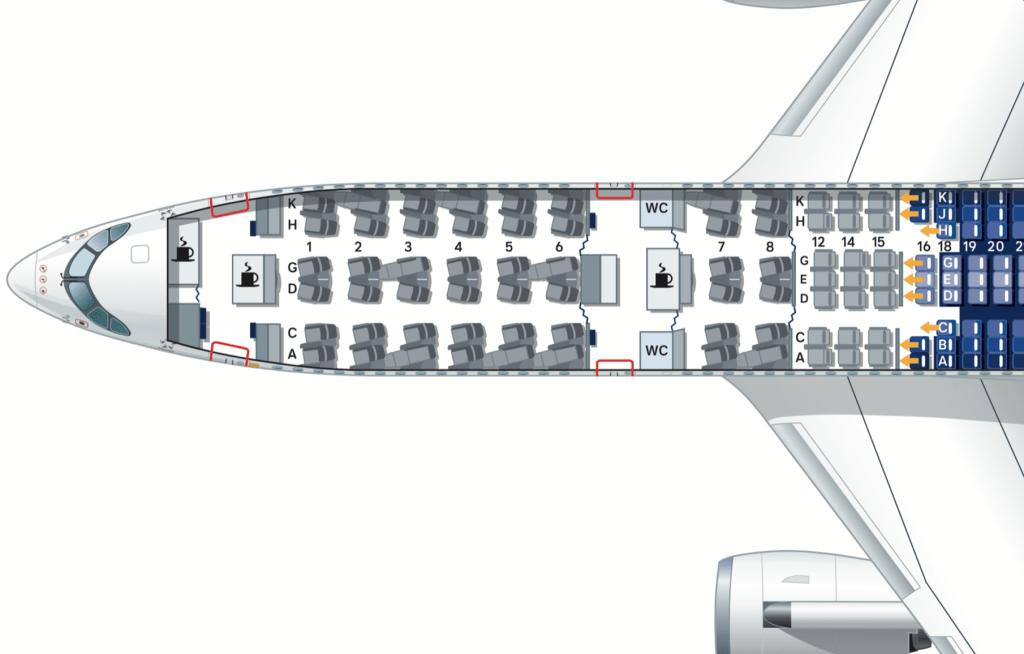 Lufthansa Airbus A350 Business Class Sitzplan