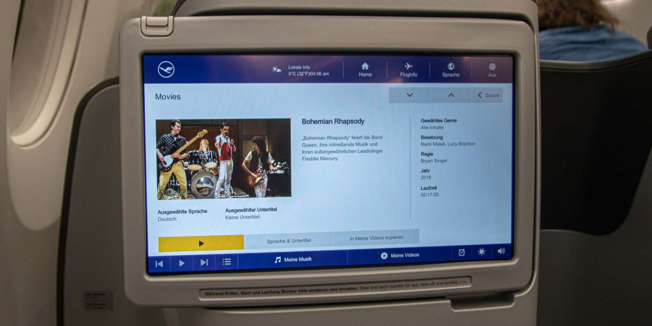 Lufthansa Business Class Essen und Getränke-2