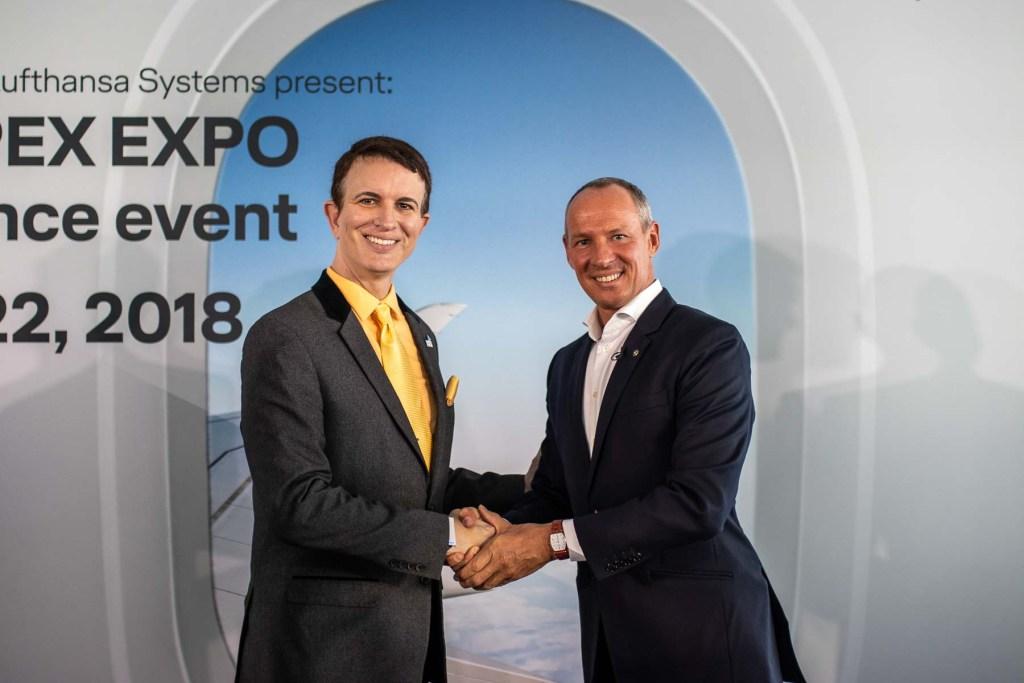 Lufthansa FlyingLab APEX Boston Lufthansa Systems CEO Olivier Krüger APEX CEO Joe Leader