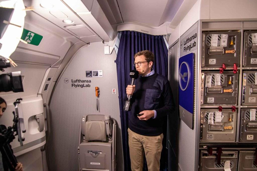 Lufthansa FlyingLab APEX Expo Boston Dr. Achim Leder CEO Jetlite