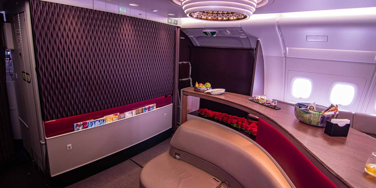 Qatar Airways A380 First Class Bar-2