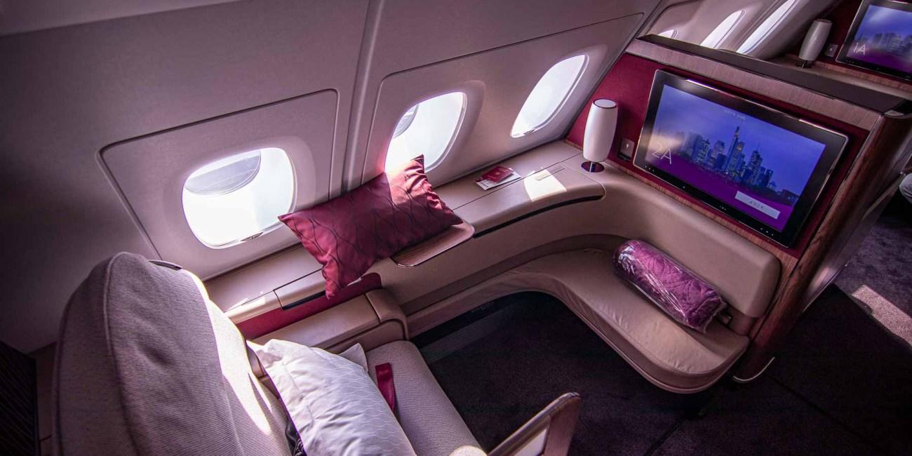 Qatar Airways A380 First Class Sitz-2