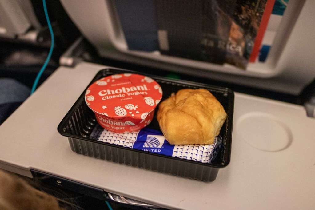United Airlines Basic Economy Class Service und Mahlzeit-6