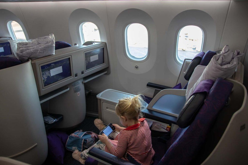 Air China Boeing 787 Business Class Sitz und Kabine-2