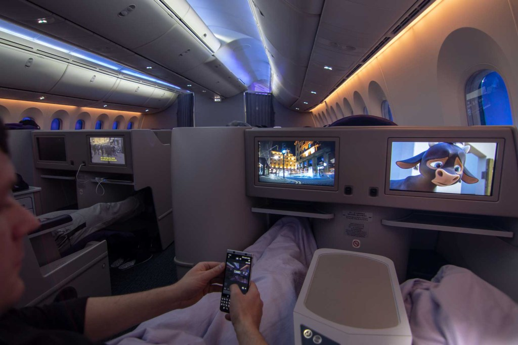Air China Boeing 787 Business Class TV Programme Deutsch Inflight Entertainment