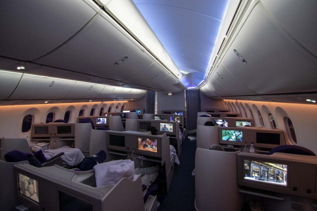 Air China Boeing 787 WBusiness Class Kabine