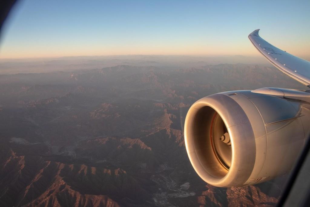 Air China Boeing 787 Wingview