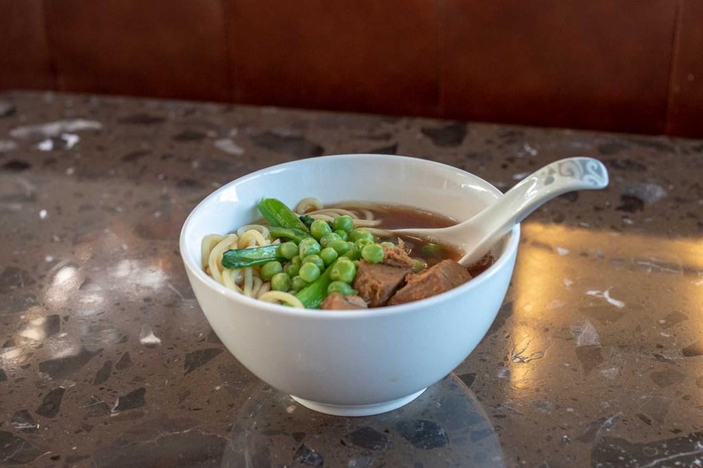 Air China First Class Lounge Essen und Trinken
