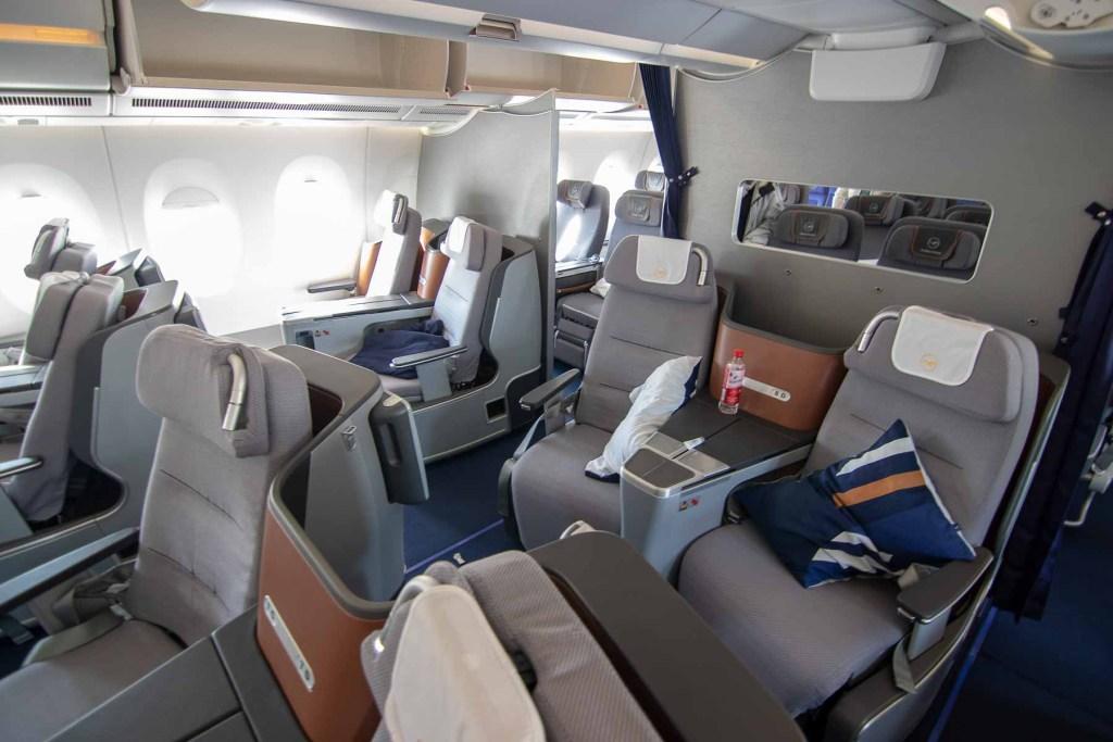 Lufthansa A350 Business Class Kabine und Sitz-4