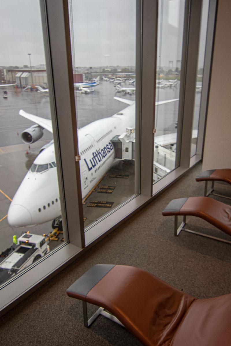 Lufthansa A350 Business Class Lounge Boston-3
