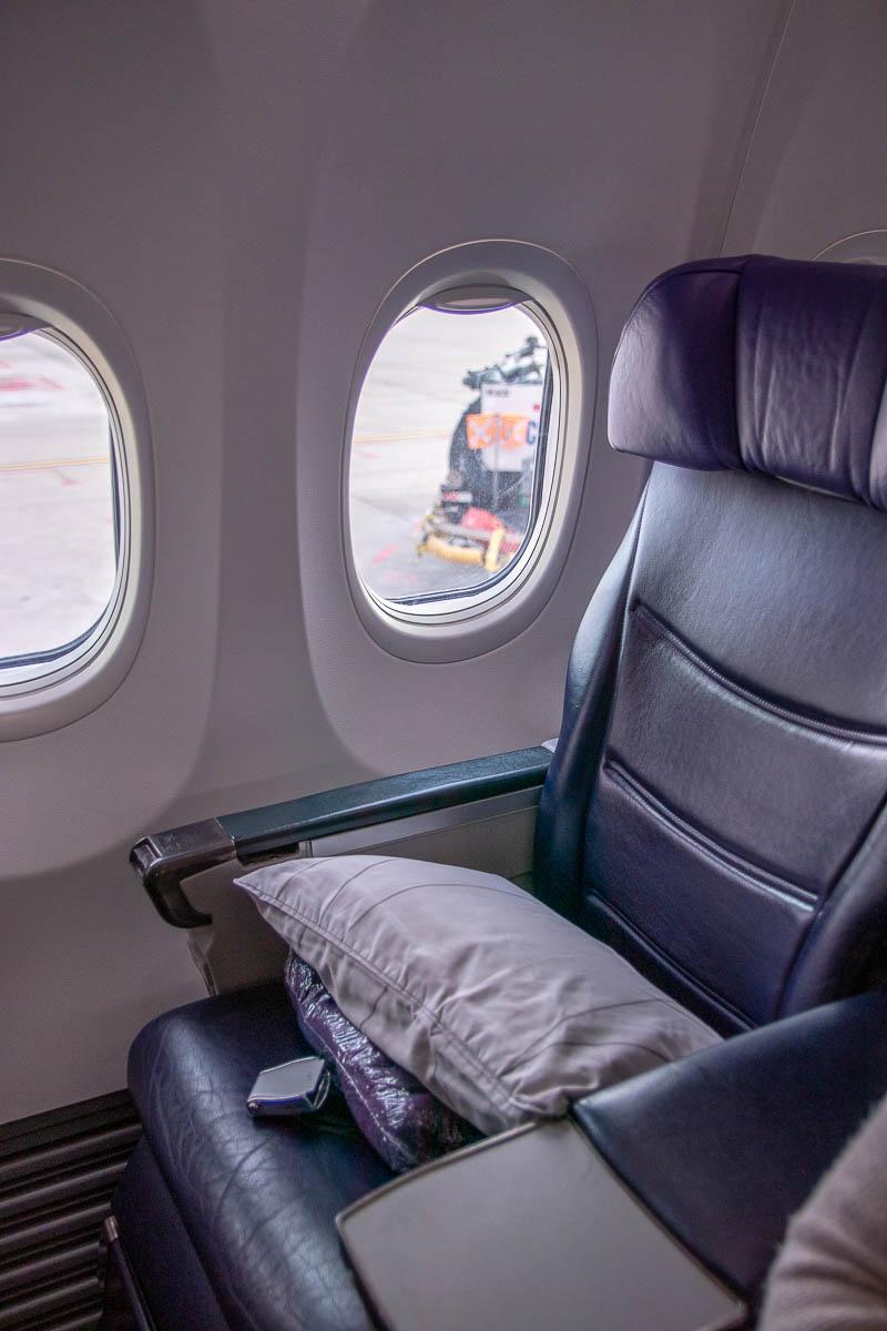 Malaysia Airlines Boeing 737 Business Class Sitz und Kabine