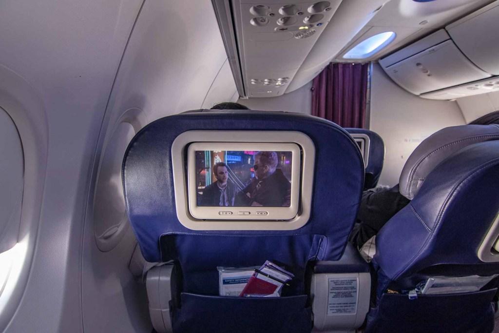 Malaysia Airlines Boeing 737 Business TV Programm Fernsehen