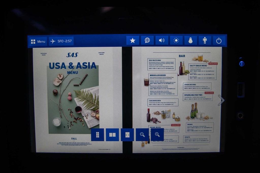 SAS A340 Economy Class Fernsehen TV Programme-3