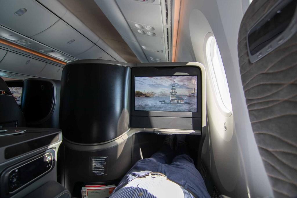 Turkish Airlines Boeing 787 Business Class Schlafen